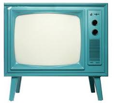 blue retro TV set