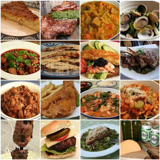 picture collage of world foods