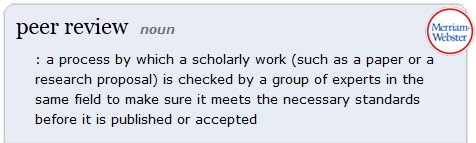 Merriam-Webster dictionary definition of peer review