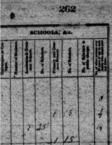 a grainy copy of page 262 of a book. there are columns but none of the text is legible.