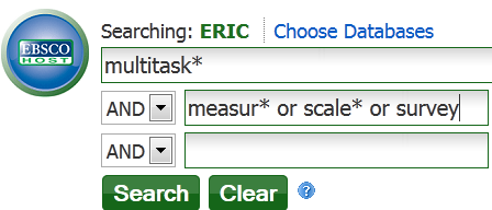 ERIC Search Box