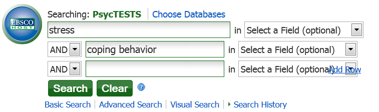 PsycTESTS Search Box