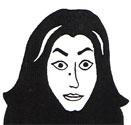 Cartoon image of Marjane Satrapi Courtesy of Smith Collete