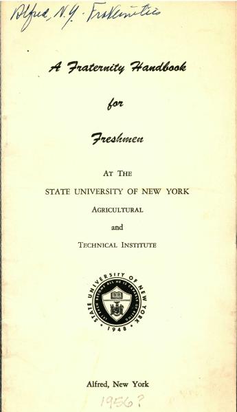 Fraternity Handbook 1956?