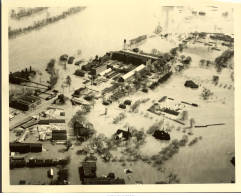 Flood of 1936 - Aerial view of factory