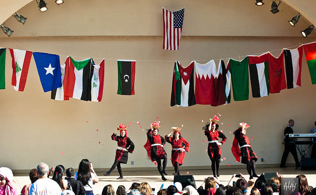 Performers at an Arab American festival