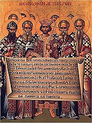 Icon of the Fathers of the Nicene Creed
