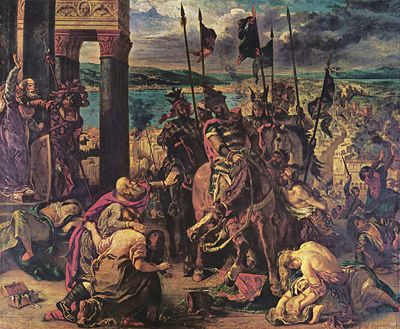 Entry of the Crusaders into Constantinople (Eugene Delacroix, 1840)