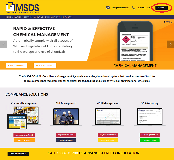 MSDS home page