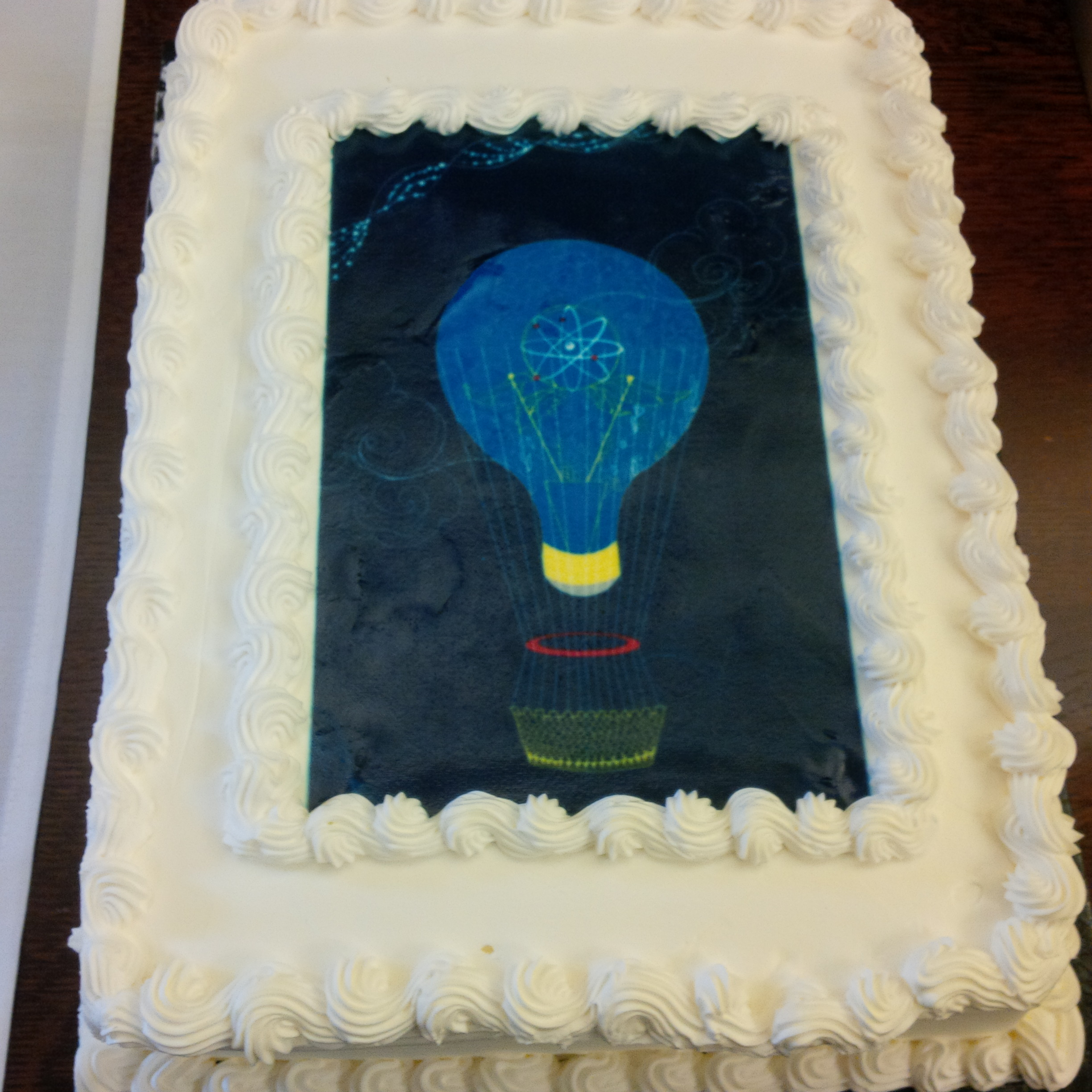 Cake with the winner's design