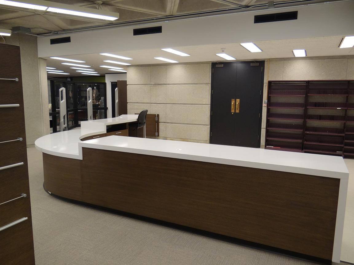 Image of Cheng Yu Tung's new circulation desk