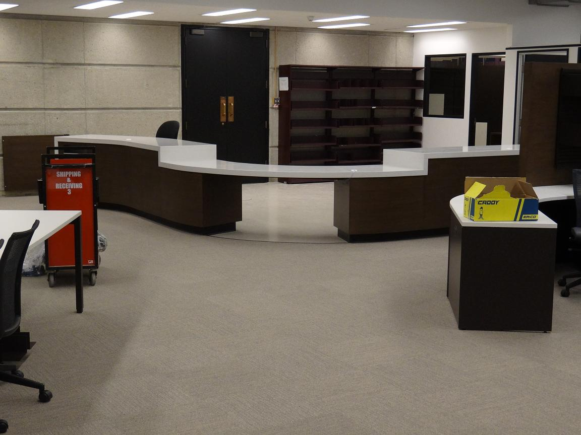Image of Cheng Yu Tung's new circulation desk 2
