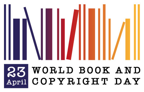 Graphic of World Book and Copyright Day, April 23rd