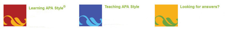 Learning APA Style, Teaching APA Style, Looking for Answers?