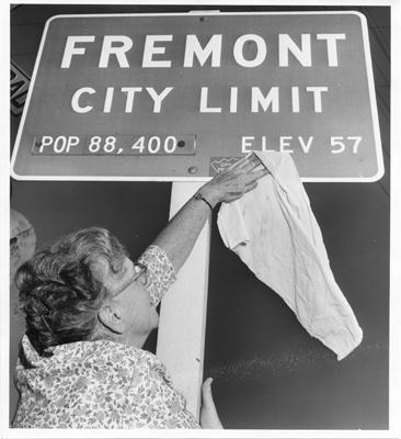 Fremont City Limit Sign